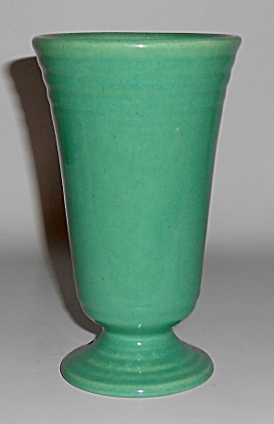 Bauer Pottery Jade Ring Ware 6in Footed Vase Mint