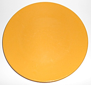 Bauer Pottery Plain Ware Yellow 11in Dinner Plate