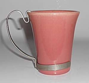 Bauer Pottery Monterey Moderne Pink Tumbler W/handle