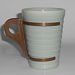 Bauer Pottery Ring Ware Rare 12 Oz Grey Tumbler Mint