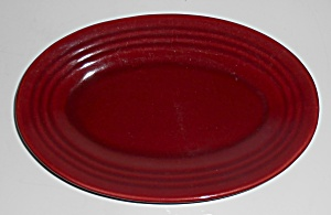 Bauer Pottery Ring Ware Burgundy Rare Small Platter