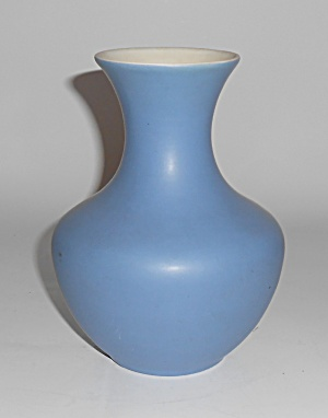 Coors Pottery Cripple Creek Blue/white Vase Mint