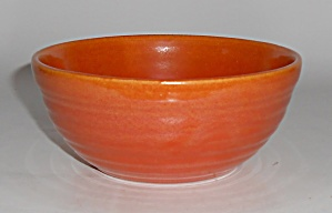 Bauer Pottery Ring Ware Orange Cereal Bowl Mint