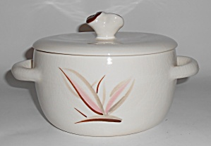 Winfield China Pottery Dragon Flower Casserole W/lid
