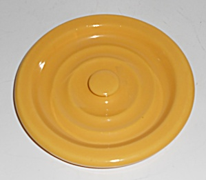 Bauer Pottery Ring Ware Yellow #2 Spice Jar Lid Mint