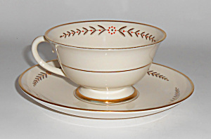 Franciscan Pottery China Mountain Laurel Cup/saucer Set