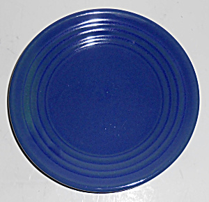 Bauer Pottery Ring Ware Cobalt Bread Plate Mint