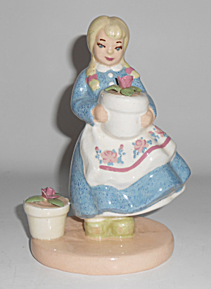 S-quire Ceramics California Pottery Dutch Girl Figurine