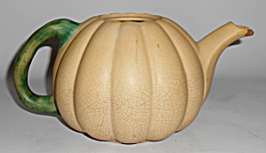 Weller Art Pottery Early Pumpkin Shape Teapot