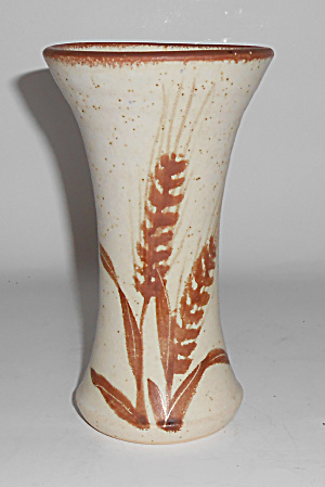 Bennett Welsh Studio Pottery Handmade Decorated Vase
