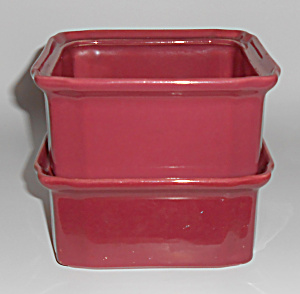 Coors Pottery Rosebud Red Refrigerator Pair Base Units