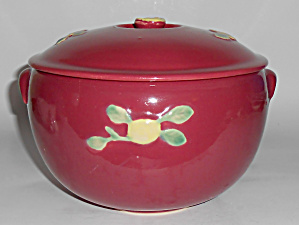 Coors Pottery Rosebud Red Medium Triple Service Cass