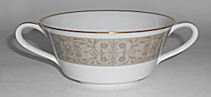 Noritake China Porcelain Justine Floral Cream Soup Bowl