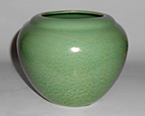 Haeger Art Pottery Early Mottled Green #e-45 Vase