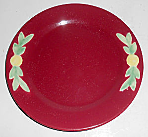"Coors Pottery Rosebud 7"" Red Plate Mint"