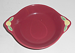 Coors Pottery Rosebud Red Fruit Bowl Mint