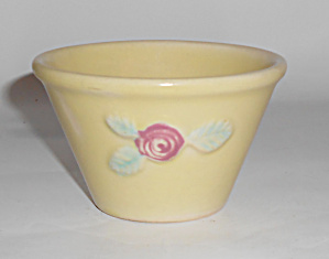 Coors Pottery Rosebud Yellow Custard Cup