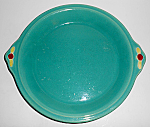 Coors Pottery Rosebud Green Pie Plate