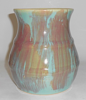 Early Hull Art Pottery #40 Drip Glaze Vase