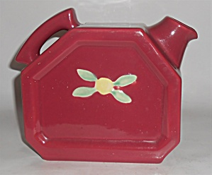 Coors Pottery Rosebud Red Water Server