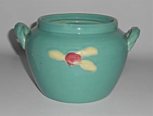 Coors Pottery Rosebud Green Utility Jar