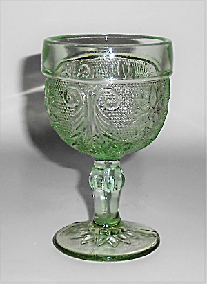 Indiana Glass Tiara Green Sandwich Wine Glass