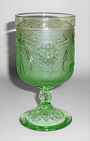 Indiana Glass Tiara Green Sandwich Water Glass