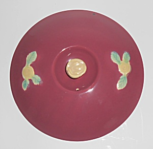 Coors Pottery Rosebud Early Red Straight Casserole Lid