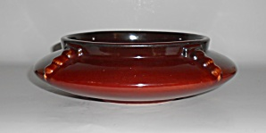 Roseville Art Pottery Topeo Red Large Low Bowl