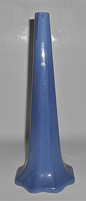 Weller Art Pottery Blue Monochrome 12-3/8in Vase