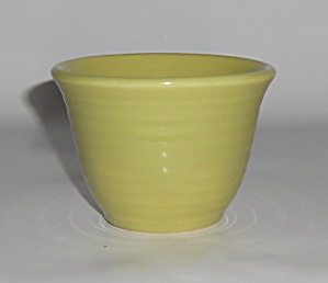 Bauer Pottery Ring Ware Rare Chartreuse Custard Cup