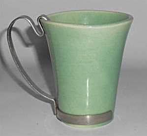 Bauer Pottery La Linda Green Tumbler W/handle