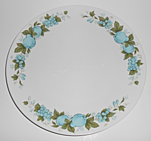 Noritake Porcelain China 6695 Blue Orchard Dinner Plate