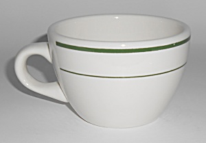 Buffalo Restaurant China Green Band Coffee Cup