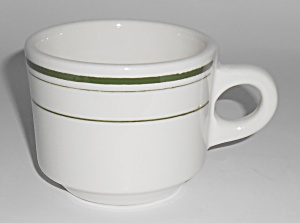 Buffalo Restaurant China Green Band Small Coffee Cup