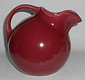 Homer Laughlin Company Harlequin Maroon Ice Lip Pitcher
