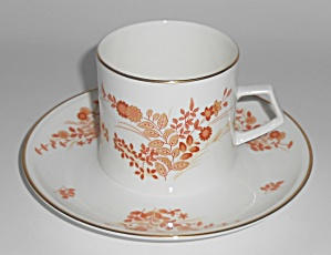 Mikasa Bone China Eastwind W/gold Cup & Saucer Set
