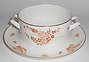 Mikasa Bone China Eastwind W/gold Gravy & Under Plate