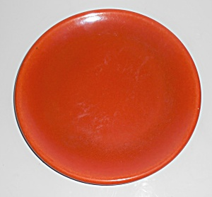 Catalina Island Pottery Toyon Red Rolled Rim Plate