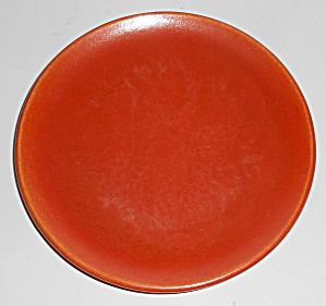 Catalina Island Pottery Toyon Red Coupe Plate