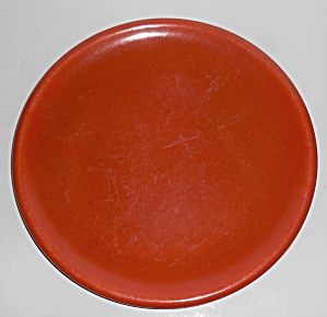 Catalina Island Pottery Toyon Red Rolled Rim Dinner Pl