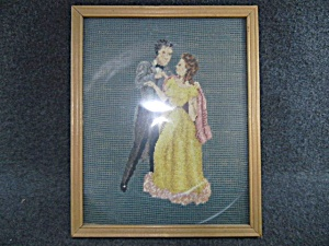 Cross Stitch Couple Dancing Framed