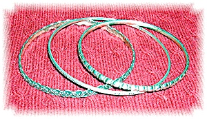 Sterling Silver 3 Hallmarked English Bracelets .