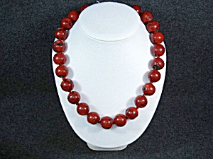 Red Round Coral Beads Necklace Designer