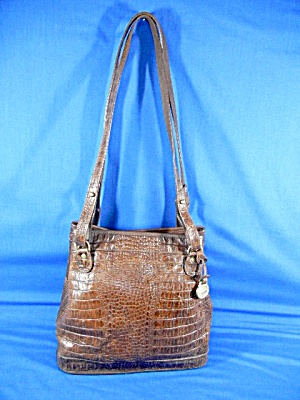 Brahmin Tan Croc Bag Melbourne Collection