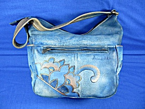 Anuschka Hand Painted Leather Hobo Bag