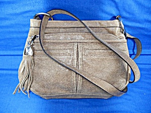 Makowsky Tan Leather Crossbody Bag