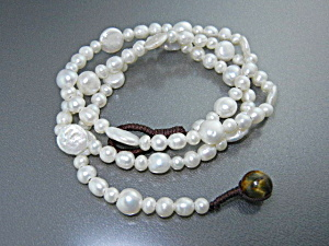 Freshwater Coin Pearls Round Pearl Necklace