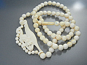 Bone Ivory Monkey Beads Monkey Necklace