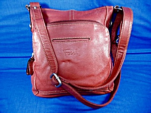 Fossil Red Leather Cross Body Bag